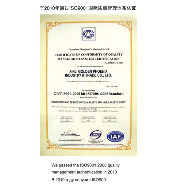 International Quality Management System Certification