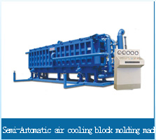 Semi-Automatic air cooling block molding machine
